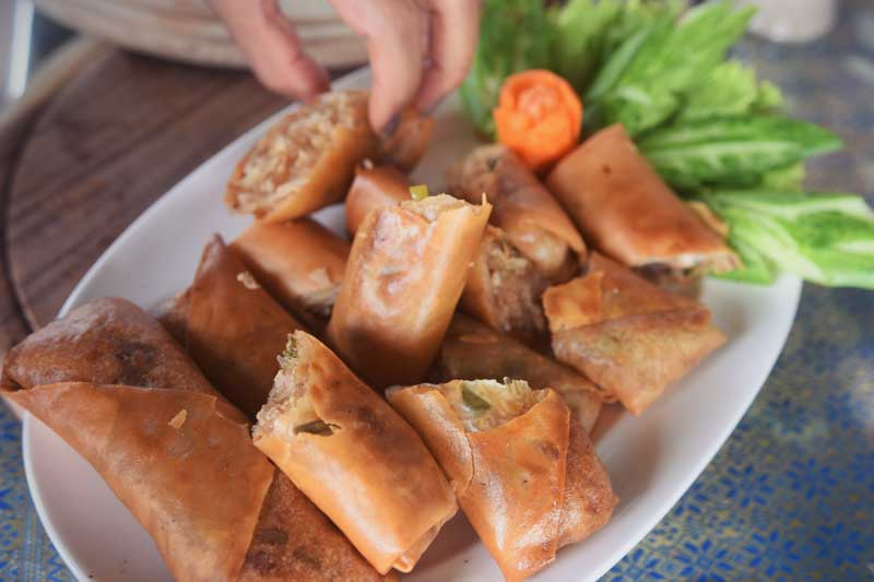 Spring rolls at Riverside
