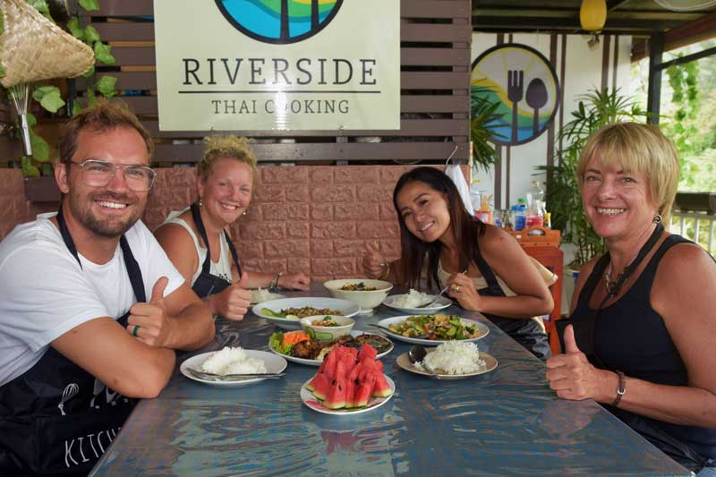 Dining after Thai cooking class