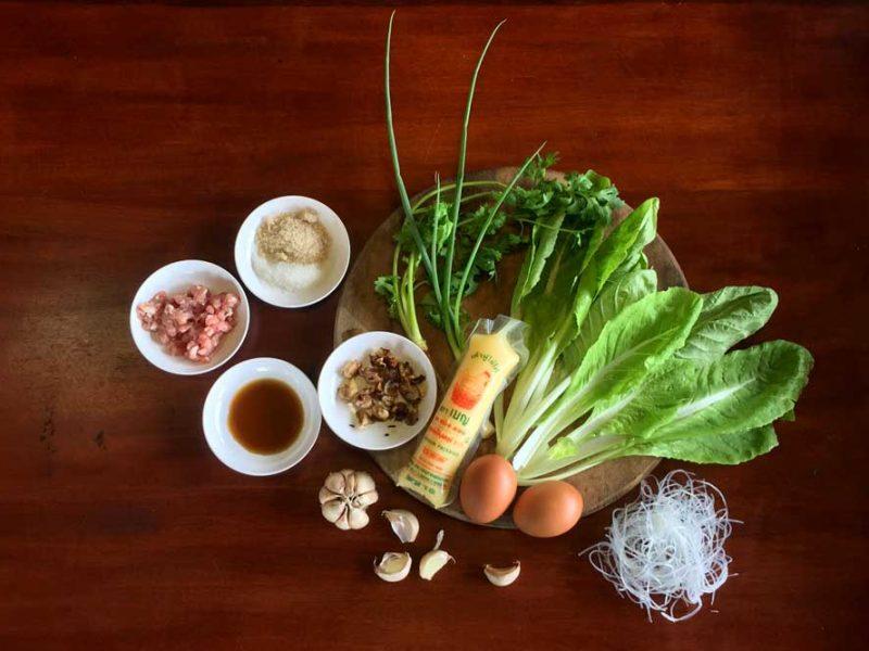 Thai soup ingredients