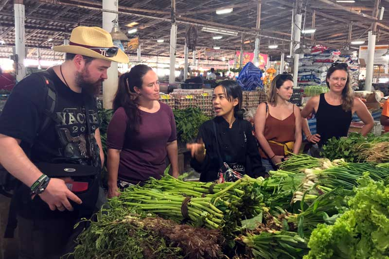 Apple's Khao Lak market tour
