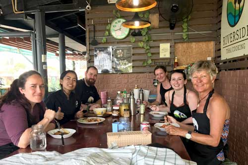 Dining at the Khao Lak cooking class