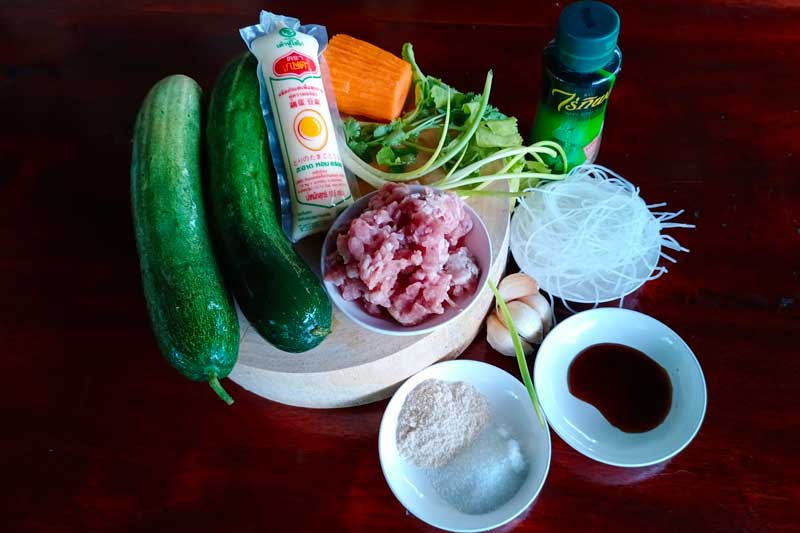 Ingredients for cucumber soup