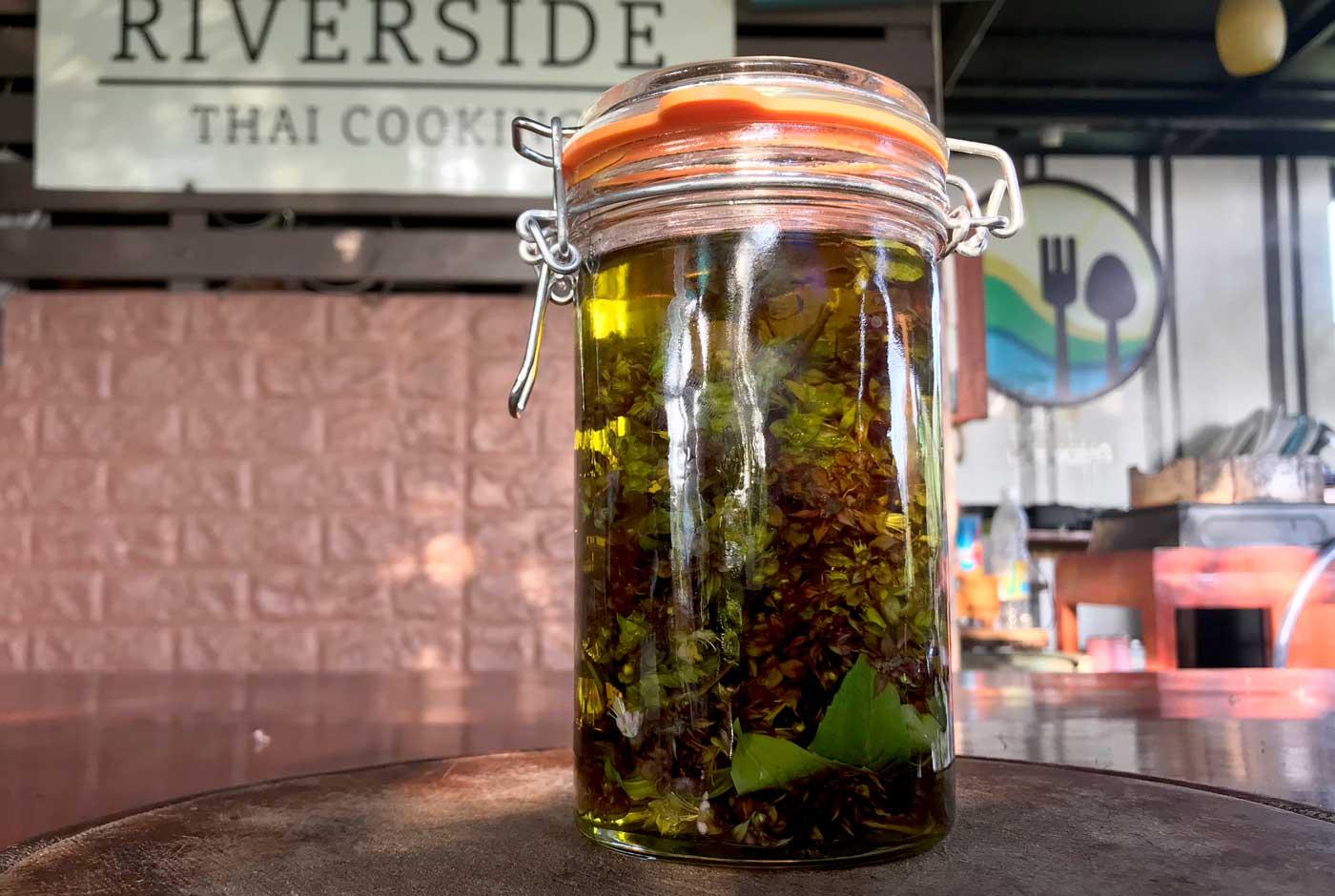 Thai holy basil olive oil