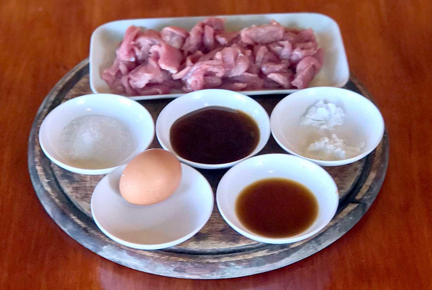 Simple pork prep ingredients