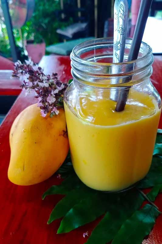 Finished mango smoothie