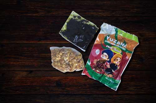 Myanmar Tea packet ingredients