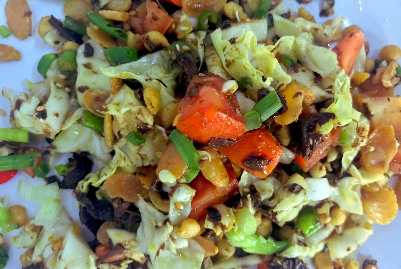 Myanmar Tea Salad close up