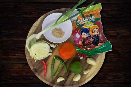 Myanmar Tea Salad ingredients