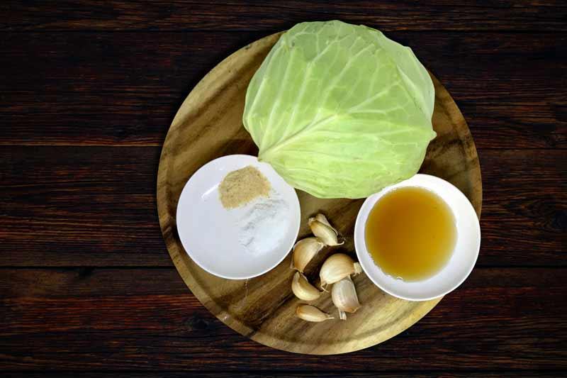 Stir fried cabbage ingredients