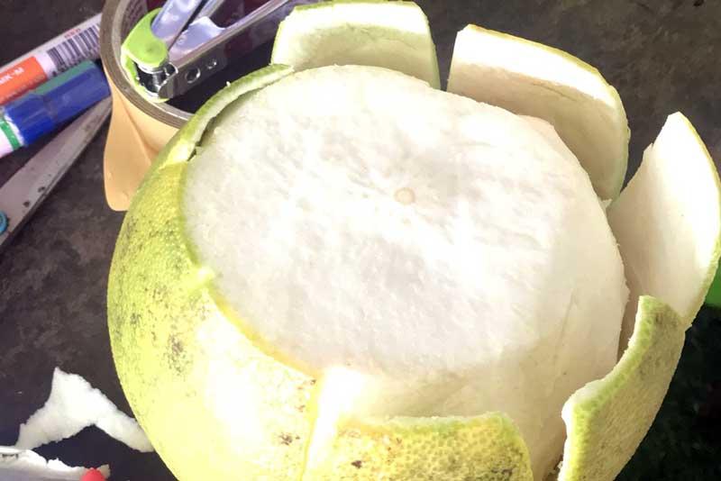 Peeling the pomelo