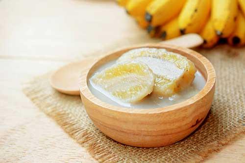 Banana in coconut milk