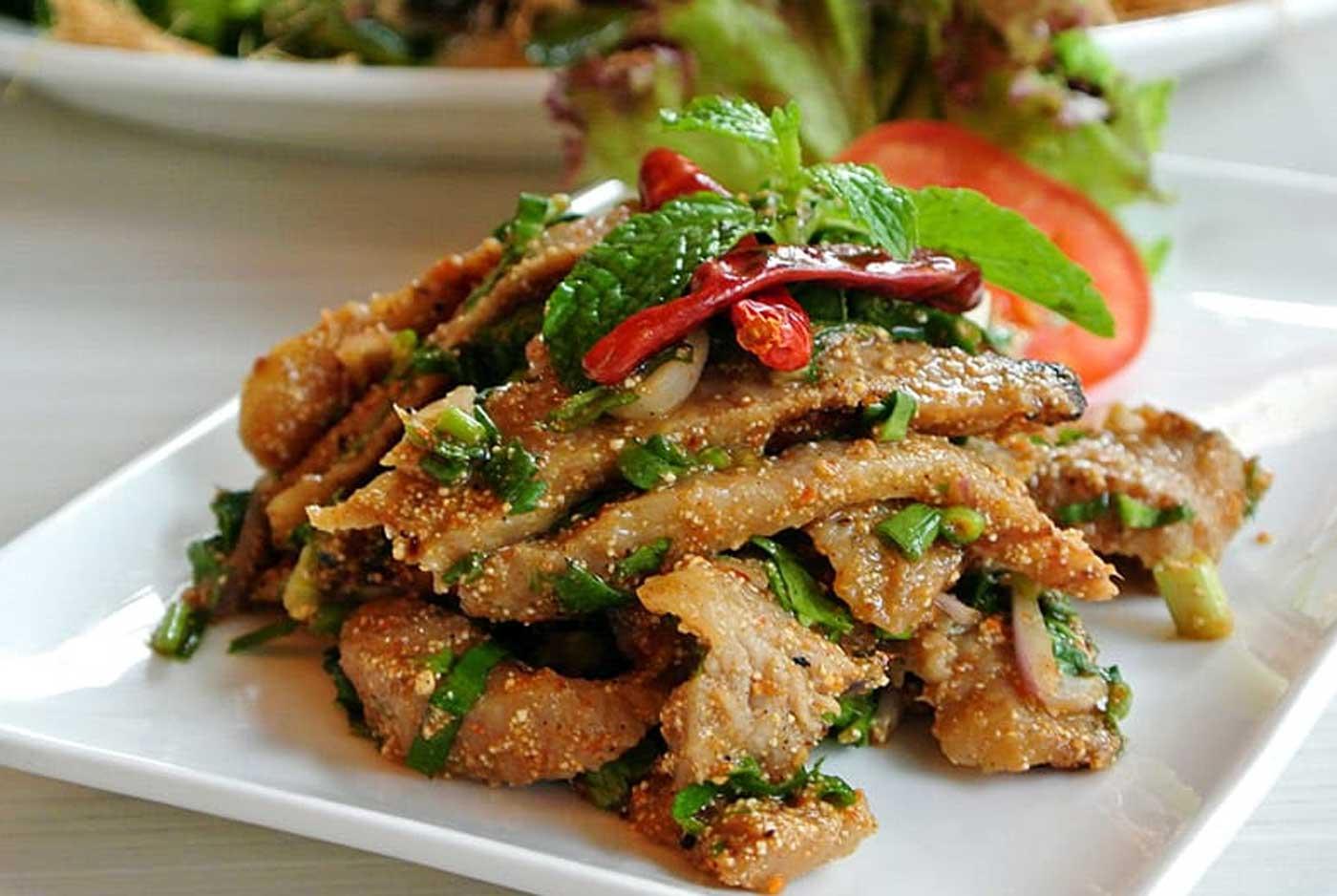 Spicy Grilled Pork Salad