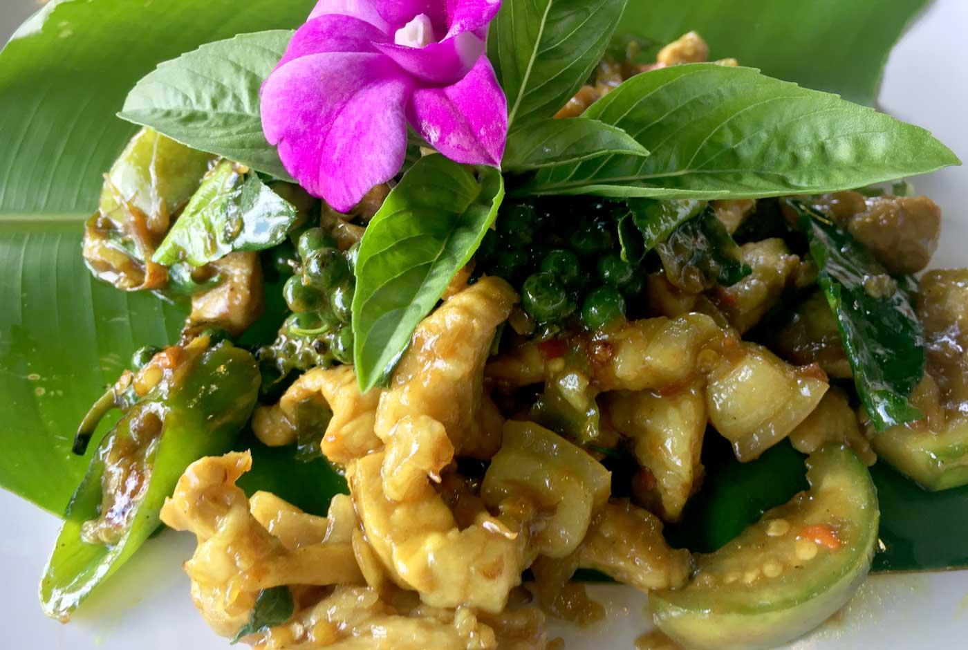 Spicy Stir Fried Pork with Thai Herbs